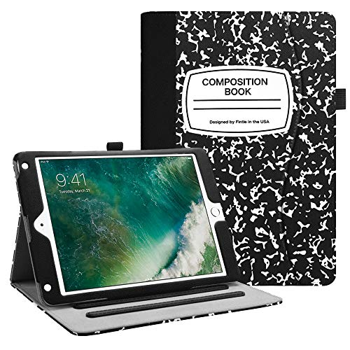 Fintie iPad 9.7 2018 2017 / iPad Air 2 / iPad Air Case - [Corner Protection] Multi-Angle Viewing Folio Cover w/Pocket, Auto Wake/Sleep for Apple iPad 6th 5th, iPad Air 1 2, Composition Book Black