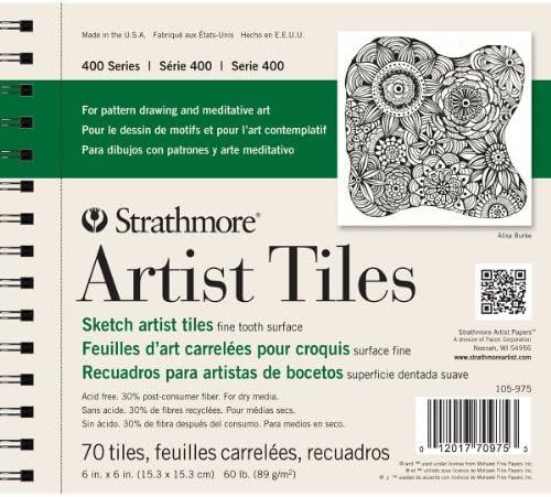 Strathmore str-105–975 70 Tabelle Künstler Fliesen Sketch Pad, 6 von 15,2 cm