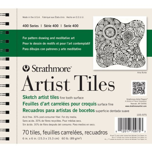 Strathmore 105-975 400 Series Sketch Artist Tiles, Fine Tooth 6