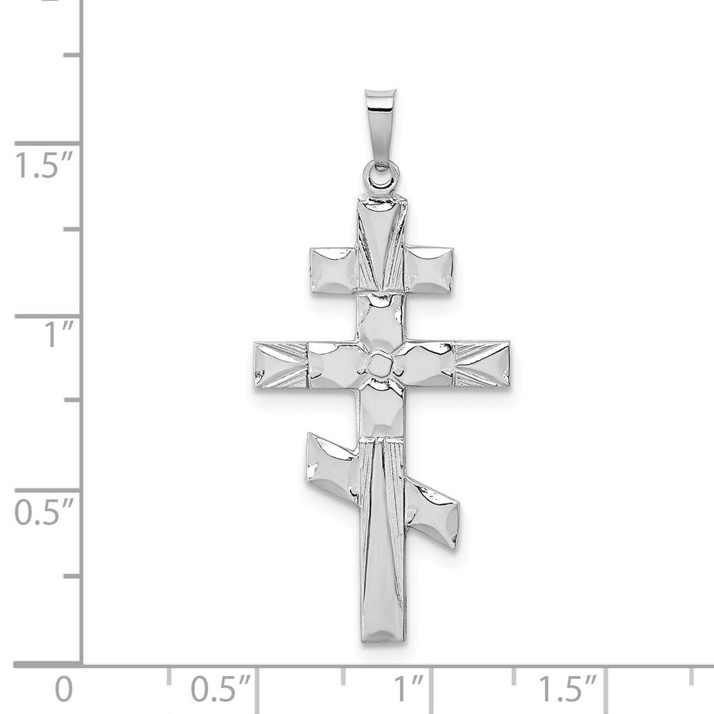 Mia Diamonds 14k White Gold Eastern Orthodox Cross Pendant