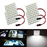 98 silverado dome light cover - S&D 4-Pack Car Interior Bulbs 48SMD LED Super Bright Dome Lights Reading Door Light Panel Lights With T10 BA9S C5W Adapter 3528 Chips White