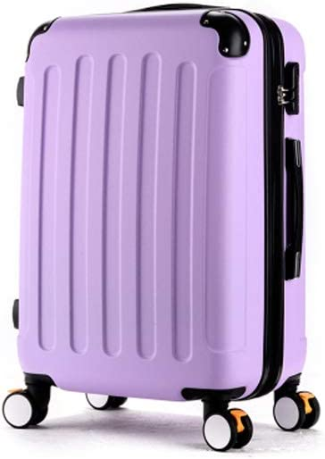 Black The Latest Style Hard Case Simple Muziwenti Carry Suitcase Rotating Suitcase Color : Purple, Size : 20 20//22//24//26 Inches Simple and