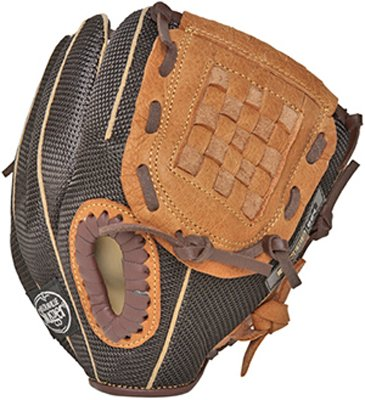 Louisville Slugger 9-Inch FG Genesis Baseball Infielders Gloves, Brown, Right Hand Throw (Tpx Mesh)
