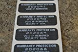 10000 Black Tint Hologram Tamper Evident High Security Labels Stickers (1.5 Inch X .5 Inch)