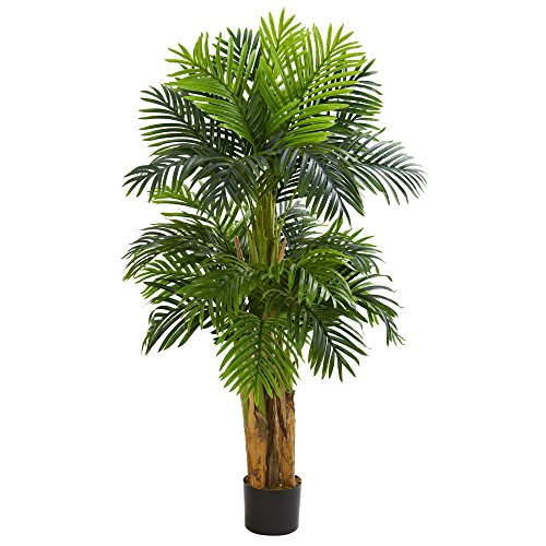 (Nearly Natural 5536 5' Triple Areca Palm Tree Artificial Plant,)