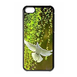White Dove Personalized Cover Case for Iphone 5C,customized phone case ygtg584750