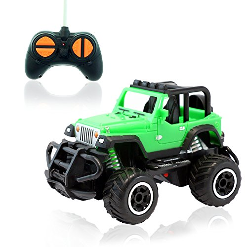 RC Cars FREE TO FLY Remote Control Car off road Mini RC Cars for Kids RTR Vehicle Sport Racing Hobby 1:43 Scale for Boys Girls Green