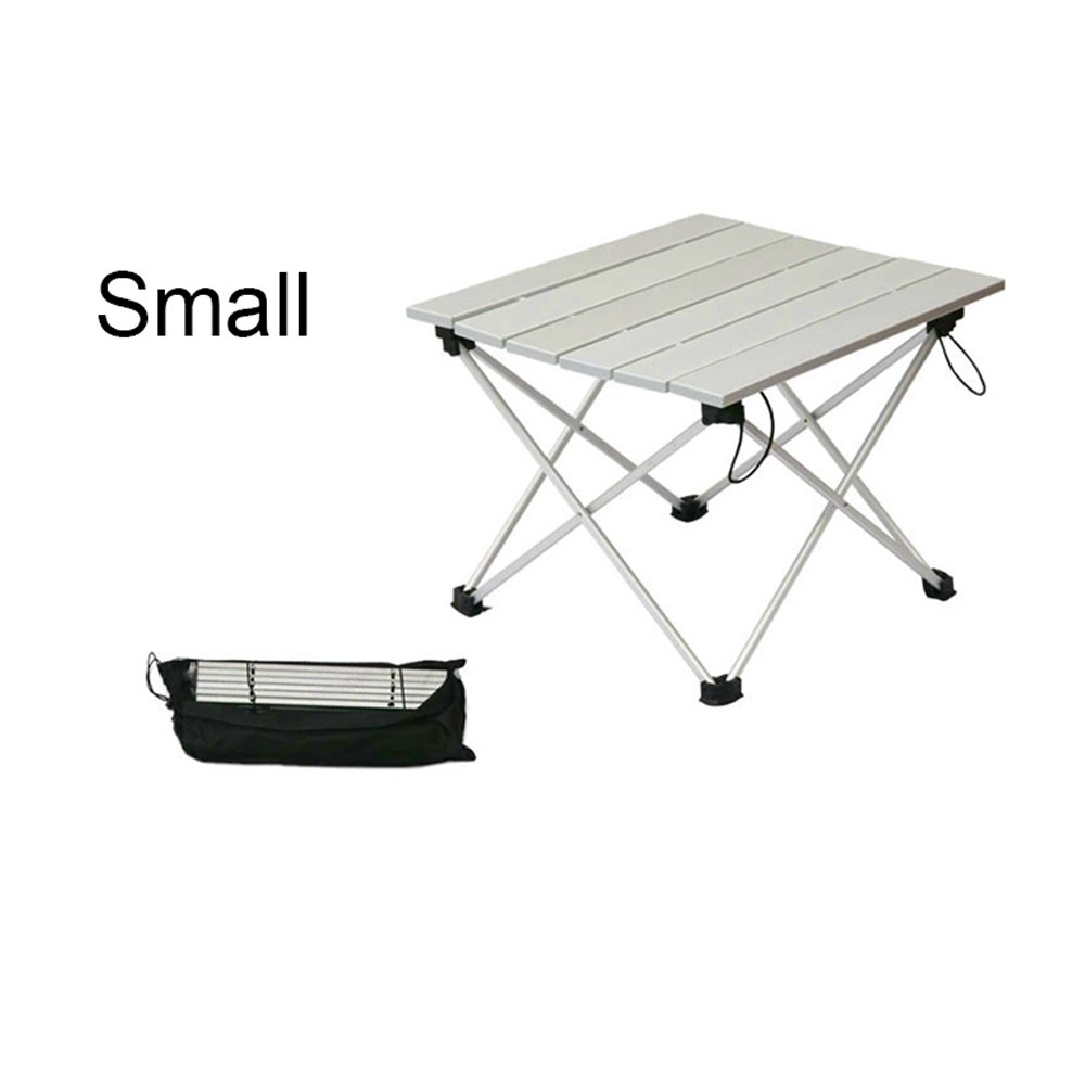 zailhwk超軽量アルミニウムポータブル折りたたみキャンプテーブルwith Carryingバッグ屋内と屋外のピクニック、旅行、釣り B073R84TQP   S:15.55*13.77*12.59inch