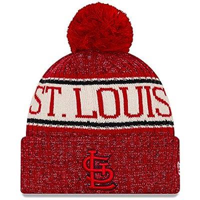New Era St. Louis Cardinals 2019 Sideline Sport Knit Winter Pom Knit Hat Cap