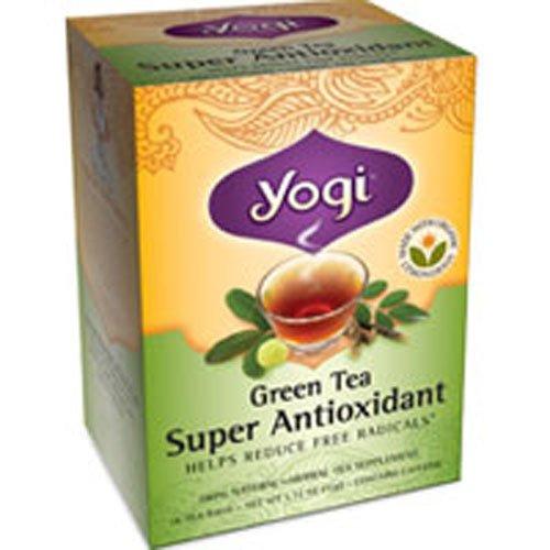 Yogi Herbal Green Tea, Super Antioxidant 16 ea (pack of 6)