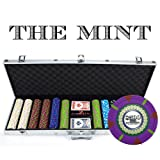 Claysmith Gaming CSMT-1000R 600 Count 'The Mint' Poker Chip Set in Aluminum Case (13.5gm)