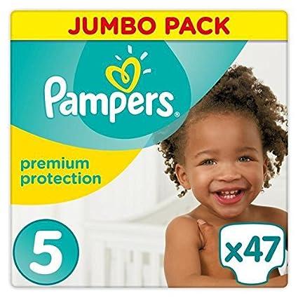 PAMPERS Premium Protection tamaño 5 (Junior) 11 – 16 kg, 47 Pañales
