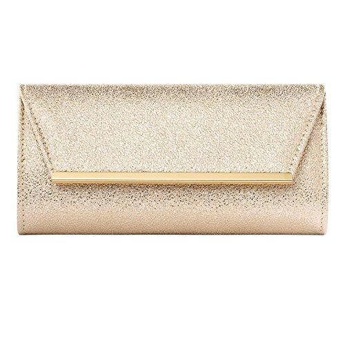 Women Envelope Fashion Clutch Wedding Evening Purse Cross Body PU Leather Handbag for Women -Ladies