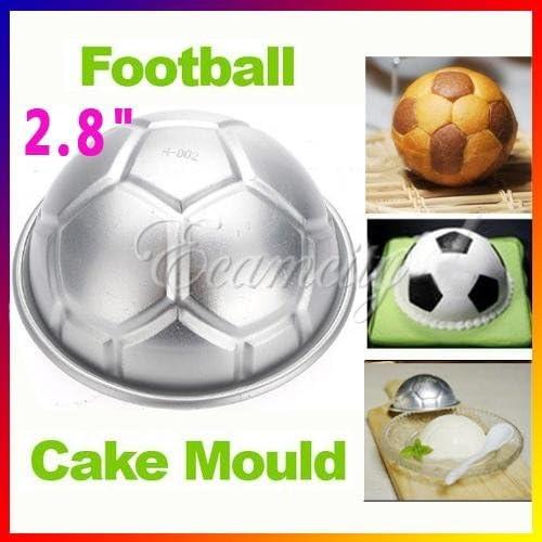 7,11 cm 3D balón de fútbol de Aluminio para pastel molde de horno ...