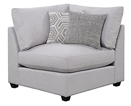 Scott Living Charlotte Sectional Armless Chair Corner In Grey
