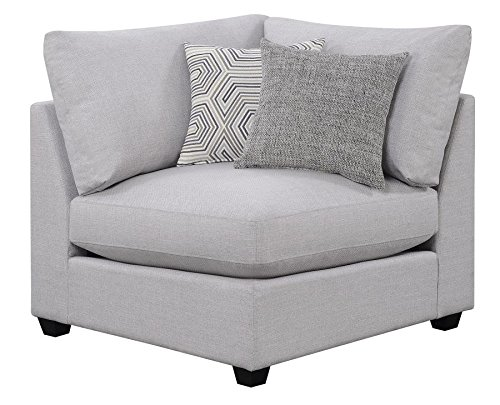 Scott Living Charlotte Sectional Armless Chair Corner in Grey (Corner Modular)