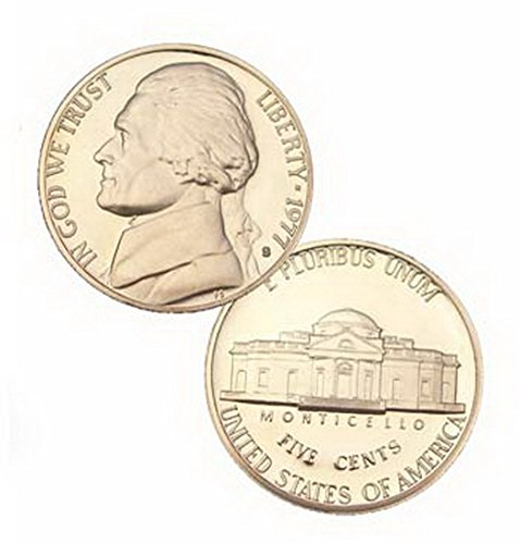 5 Cent Nickel - 1977 S Us Mint Jefferson Proof 5 Cent Nickel Coin