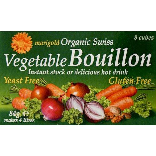 Natural Vegetable Stock (Marigold Org Veg Bouillon Yeast Free 8 Cubes)