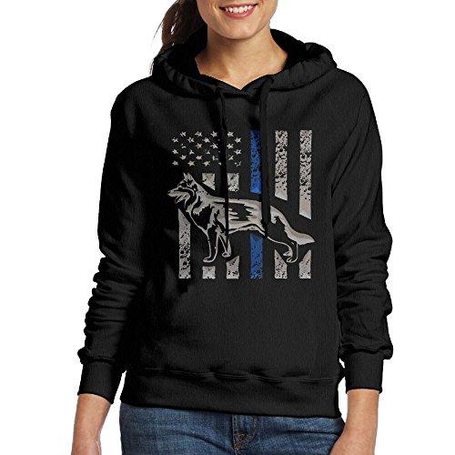 Blue Coat K9 (HERFeminist K-9 Blue Lives Matter Thin Line Dog Women Fall/Winter Vintage Durable Fashion Warm Cotton Hoodie Sweatshirt Coat)