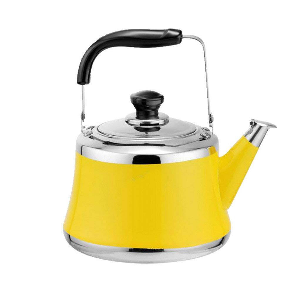 Germany 304 Stainless Steel Thicken Whistling Tea Kettle for Stovetop Gas Induction Teapot 2L Green Remeehi