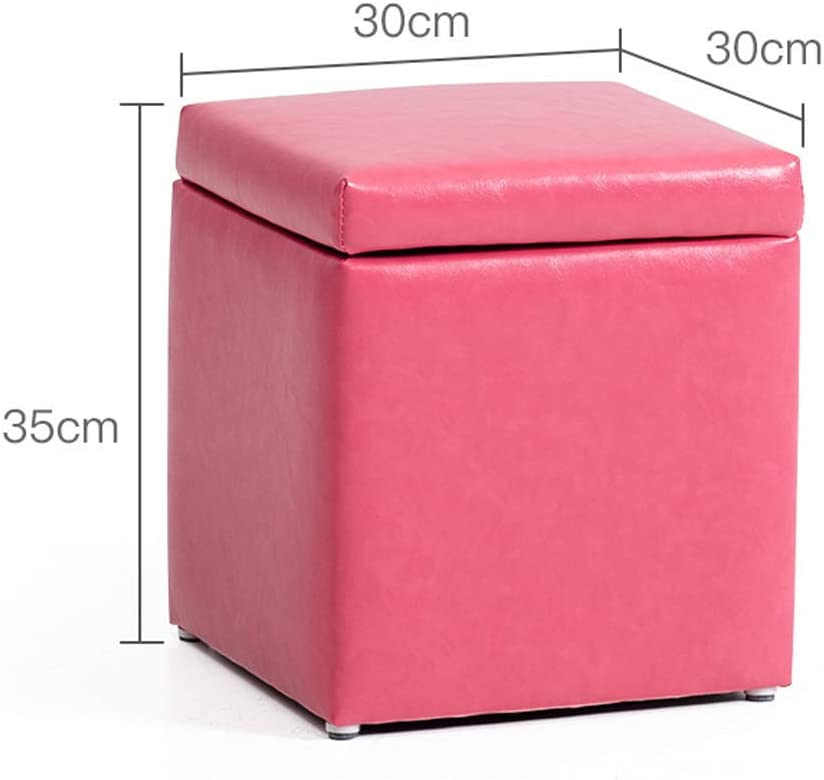 WEHOLY Funktionshocker Massivholzhocker Home Hocker Baby Sofa Hocker Netter runder Hocker Kinderhocker Cartoon Kleine Bank 30x30x35cm Kleiner Hocker (Farbe: Pink) Pink