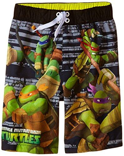[Dreamwave Little Boys' Teenage Mutant Ninja Turtles Swim Trunk, Multi, 6/7] (Ninja Turtle Suits)