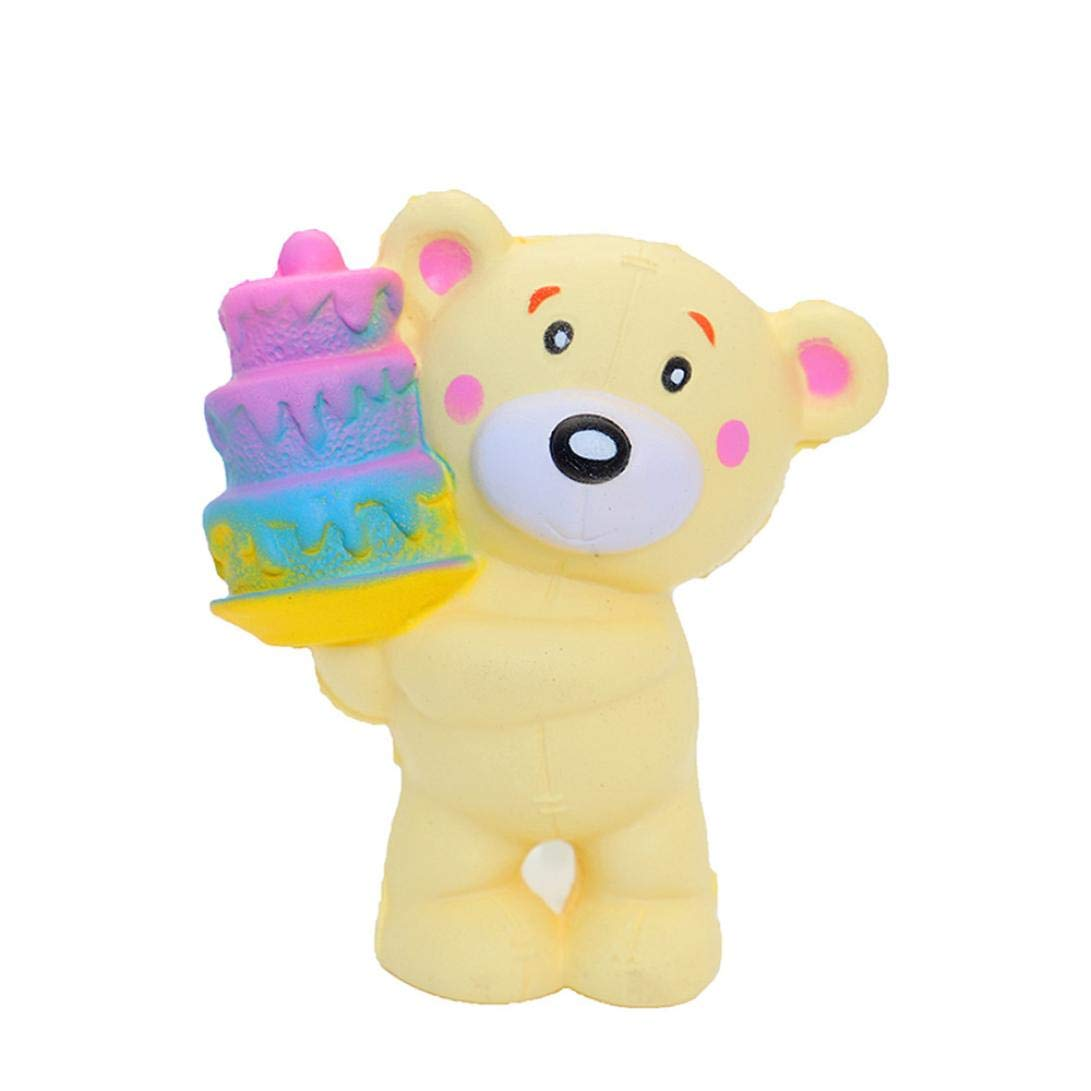 callm Squishies Cake Style Slow Rising Jumbo Squishy Toys Kawaii Cute Scented Squishies Kids Party Squishy Stress Reliever Toy (Bear)