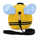Hipiwe Baby Walking Safety Harness Reins Kid Toddler Strap Backpack Child Safety Harness Assistant with Leash Bee Backpack with Wings