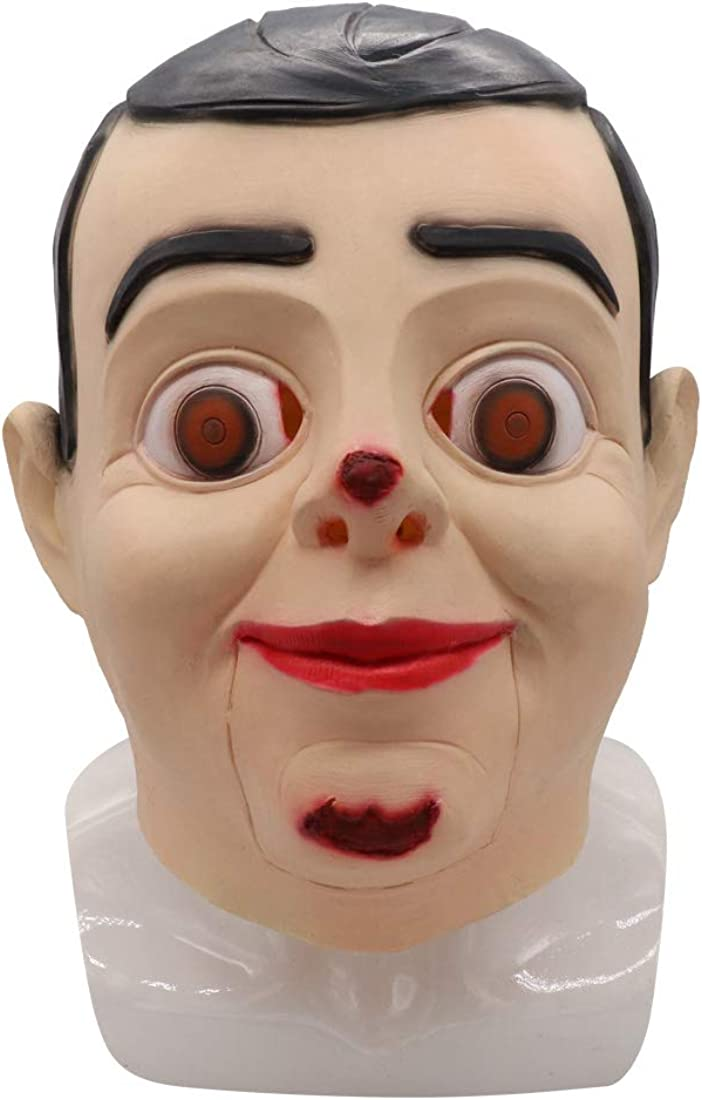 Bulex Goosebumps Slappy The Dummy Vacuform Mask for Halloween Brown