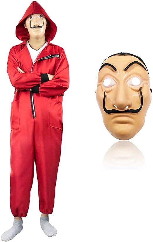 Baipin 2 Piezas Disfraz de Ladrón Tercera Temporada, Mono Rojo y ...