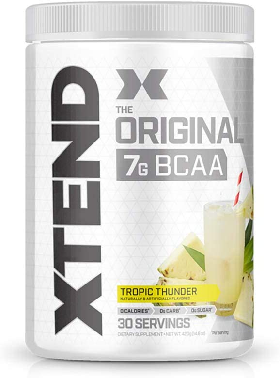XTEND Original BCAA Powder Tropic Thunder | Sugar Free Post Workout Muscle Recovery Drink with Amino Acids | 7g BCAAs for Men & Women | 30 Servings