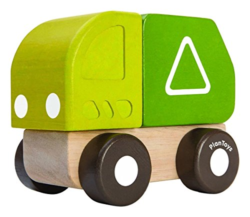 PlanToys 5440 Mini Garbage Truck Toy (Garbage Wood Truck)