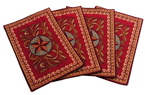 Western Star Jacquard Southwestern Design Place Mats Set of ()