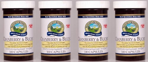 Naturessunshine Cranberry & Buchu Conc. Urinary System Support 100 Capsules (Pack of 4)