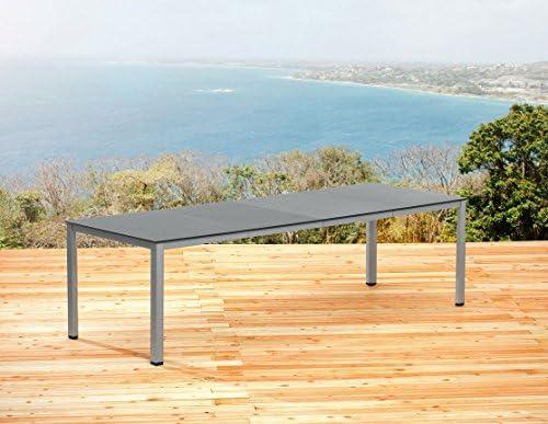 Kettler – Mesa extensible 159/219/279 cm en plata antracita Jardín ...