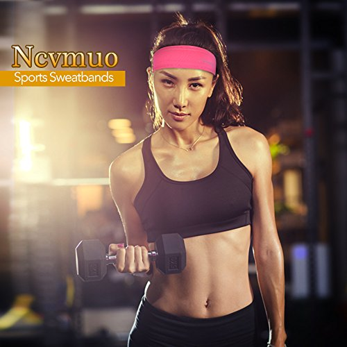 Sport Headband,Athletic Headband,Yoga Headbands, Sport Fitness Sweatband GYM NON Slip Wicking Stretchy Lightweight Crossfit Workout Running football Cycling Hiking Facial Men Women Unisex 3 Pieces