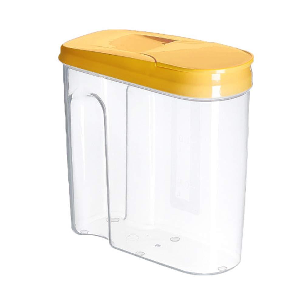 Arroz Nueces SELUXU 1.8L // 2.5L Dispensador de Cereales Caja de Almacenamiento de Alimentos Secos Caja de Pl/ástico Contenedor de Cereales Harina Az/úcar Caf/é