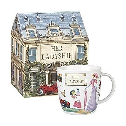 Queens AT YOUR Leisure Squash Mug HER Ladyship 400ML Gift Box, Bone China  Multi-Colour, 9 5 x 9 5 x 10 cm