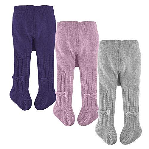 slaixiu Cotton Baby Girl Tights Cable Knit Seamless Toddler Leggings Pants Stockings