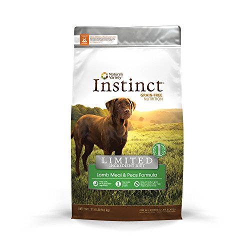 Nature's Variety Instinct Limited Ingredient Diet (LID) Lamb Meal and Peas Dry Dog Food, 21 lb Bag For Sale