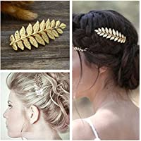 Stylish Women Bridal Hair Clip French Leaf Branch Barrette Hairpin Accessories