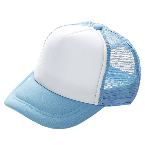 Opromo Kids Two Tone Mesh Curved Bill Trucker Cap, Adjustable Snapback, 14 Colors