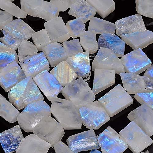high Quality size 4x4mm 33 piece sugar loaf square Shape jewelry makiing gemstone RAINBOW MOONSTONE GEMSTONE