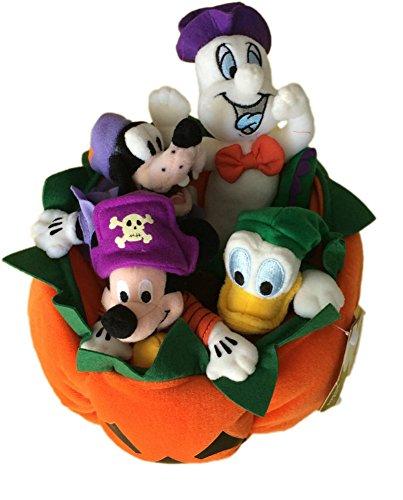 Halloween Mickey Pumpkin Mini Bean Bag Set