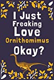 """I Just Freaking Love Ornithomimus Okay?: (Diary, Notebook) (Journals) or Personal Use for Men, Women and Kids Cute Gift For Ornithomimus Lovers. 6"""" x 9"""" (15.24 x 22.86 cm) - 120 Pages"""