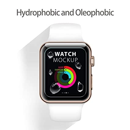 Amazon.com: BATOP Apple Watch Screen Protector    for Apple Watch iwatch 1/2/3 38mm 42mm iwatch 4 40mm 42mm Tempered Glass Screen Protector Clear Anti ...