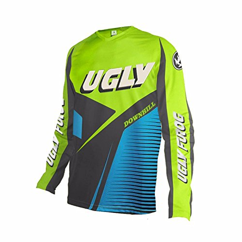 Price comparison product image Uglyfrog MT14 Designs Bike Wear Men's Downhill Jersey Rage MTB Men's Short / Long Cycling Jersey Cycle Riding Jerseys Biking Shirt with Quick Dry Breathable Fabric