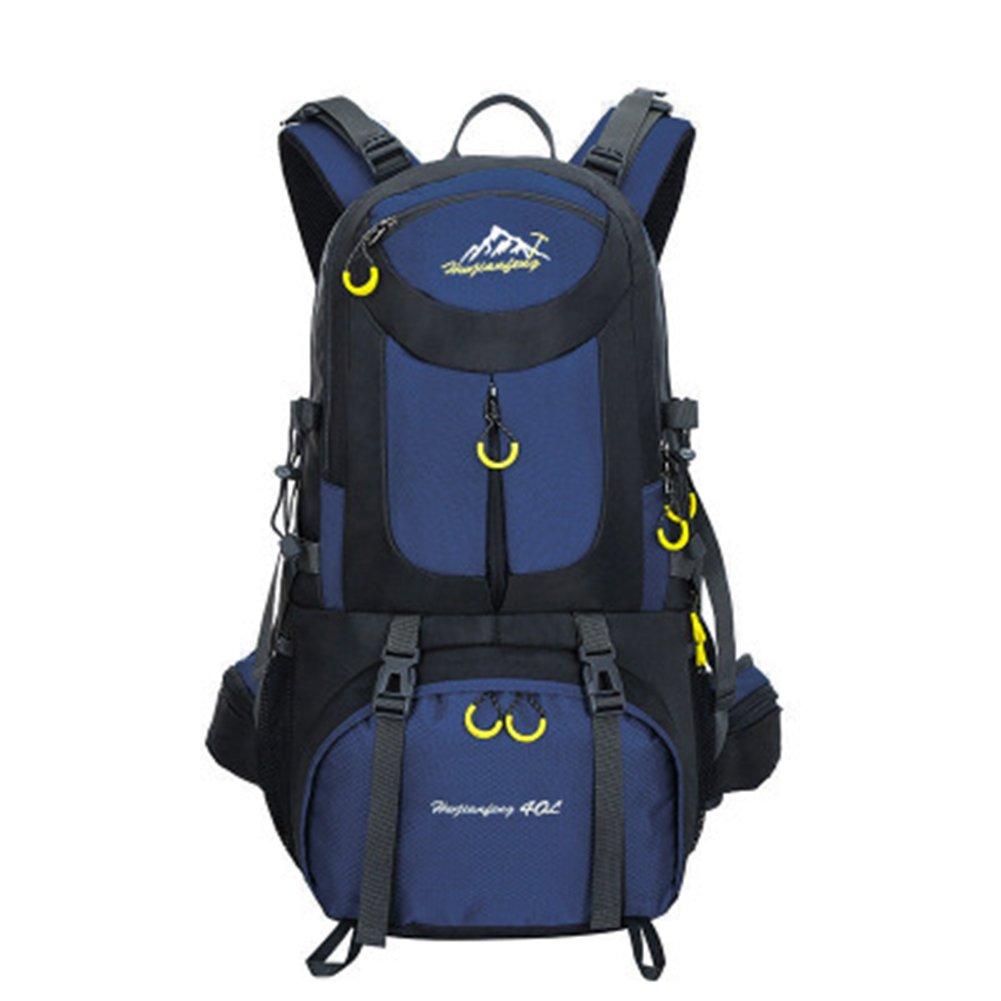 yothg大容量リュックサックバックパック、旅行リュックサックハイキングバックパック、旅行防水アウトドアリュックサックスポーツバッグ 50L ダークブルー B07DNFGWZY