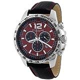 Stuhrling Original Men's 210A.331540 Concorso Chronograph Red Dial Watch