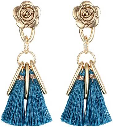 "eManco ""Colorful Life"" Bohemian Ethnic Long Tassel Dangle Earrings for Women Statement Jewelry - 2 Styles"